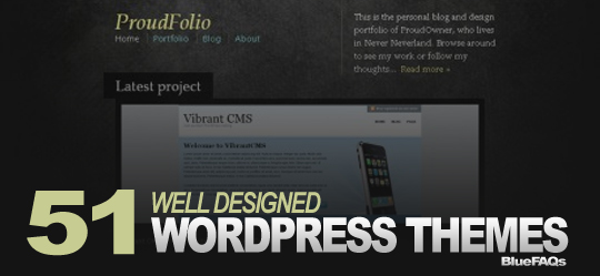 51 well designed wordpress themes