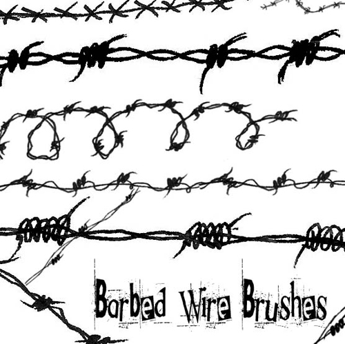 Barbed_Wire_brushes_by_circle__of__fire