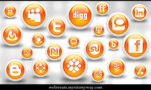 Glossy_Orange_Orb_Soc__Media_by_WebTreatsETC