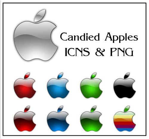 candied apples icons