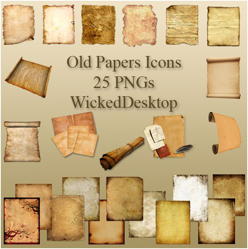 old papers icons