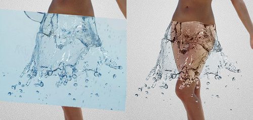 water dress tutorial