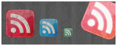 Grunge RSS FEED Icons