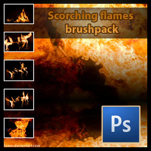 Scorching Flames Brushes
