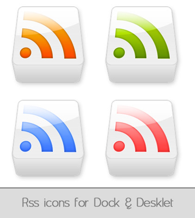 rss icons for dock and desklet