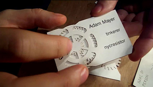 geared business card