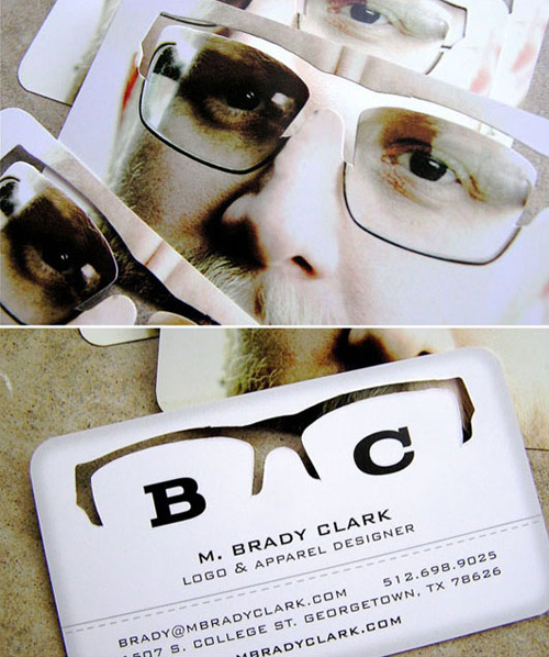 glasses business card