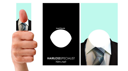 hairloss business card