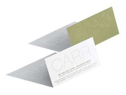 hole punch business card