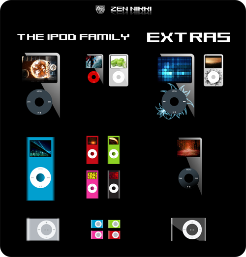 iPod Family Icons