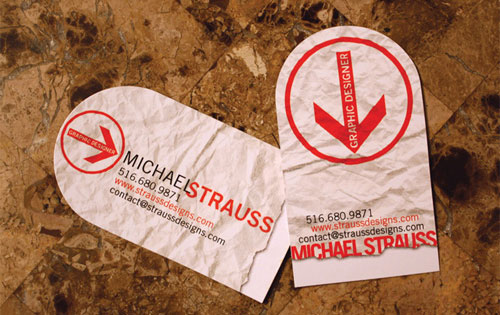 michael strauss business card