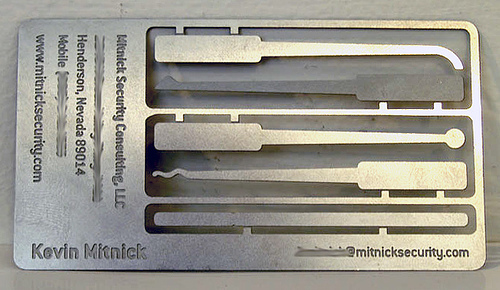 mitnick security business card