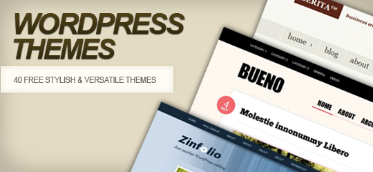 40 Free WordPress Themes