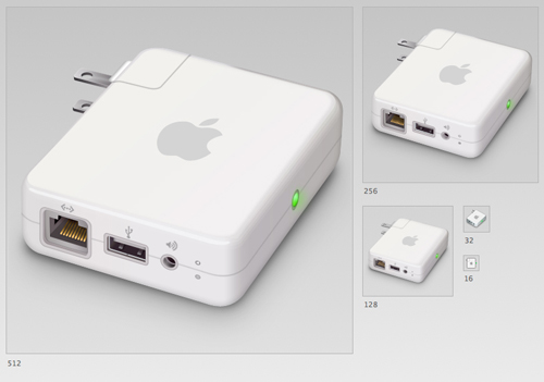 Airport_Express__PSD_Included__by_DDrDark