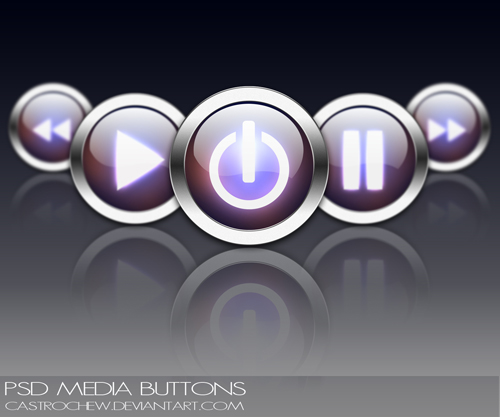 PSD_Media_Buttons_by_castrochew