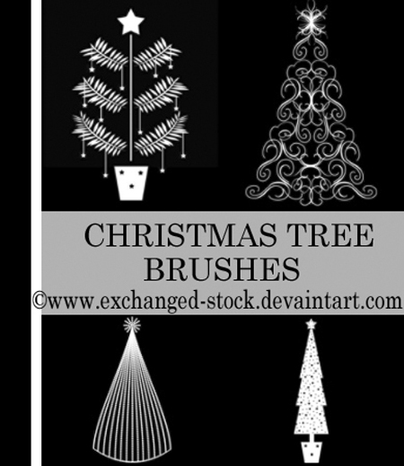 christmas tree brushes3