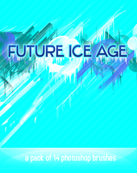 futuristic ice age brushes