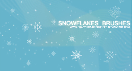 snowflakes brush
