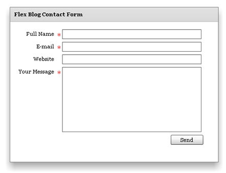 wp flex contact form