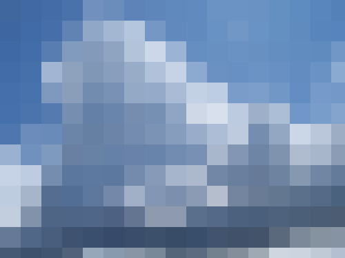 pixelated clouds