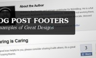 Blog Post Footer Designs
