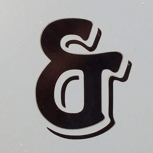 painted ampersand