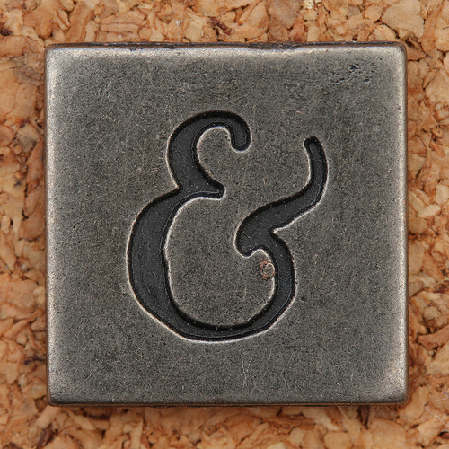 pewter ampersand