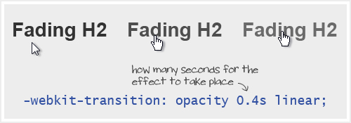 CSS3 Fading Opacity