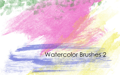 Photoshop watercolor tutorial and brushes