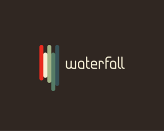 Waterfall Logo1 30 Fresh Logos To Get Your Creative Juices Flowing