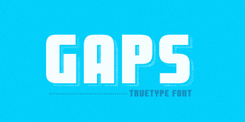 gaps font