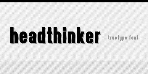 headthinker font