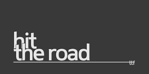 hit the road font