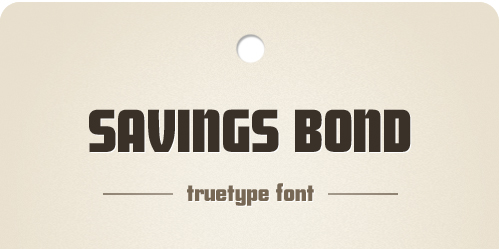 savings bond font