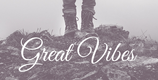 Great Vibes - Free script font